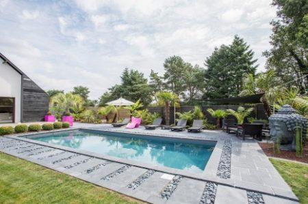 piscine galets décoration zen